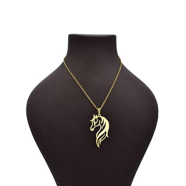 گردنبند طلا 18 عیار زنانه آرشا گالری طرح اسب کد 327A2452