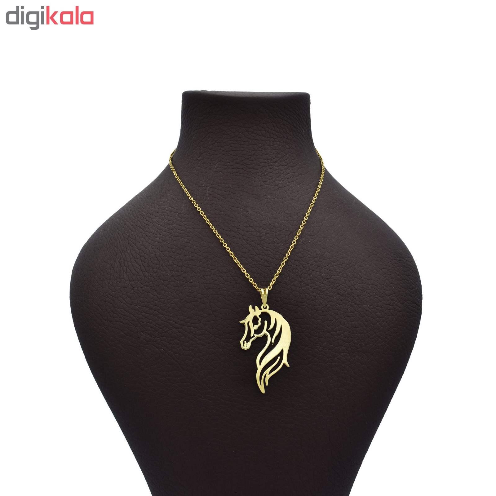 گردنبند طلا 18 عیار زنانه آرشا گالری طرح اسب کد 327A2452 main 1 1