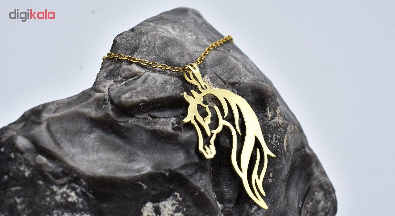 گردنبند طلا 18 عیار زنانه آرشا گالری طرح اسب کد 327A2452 main 1 3