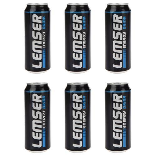 نوشیدنی انرژی زا لمسر حجم 500 میلی لیتر بسته 6 عددی