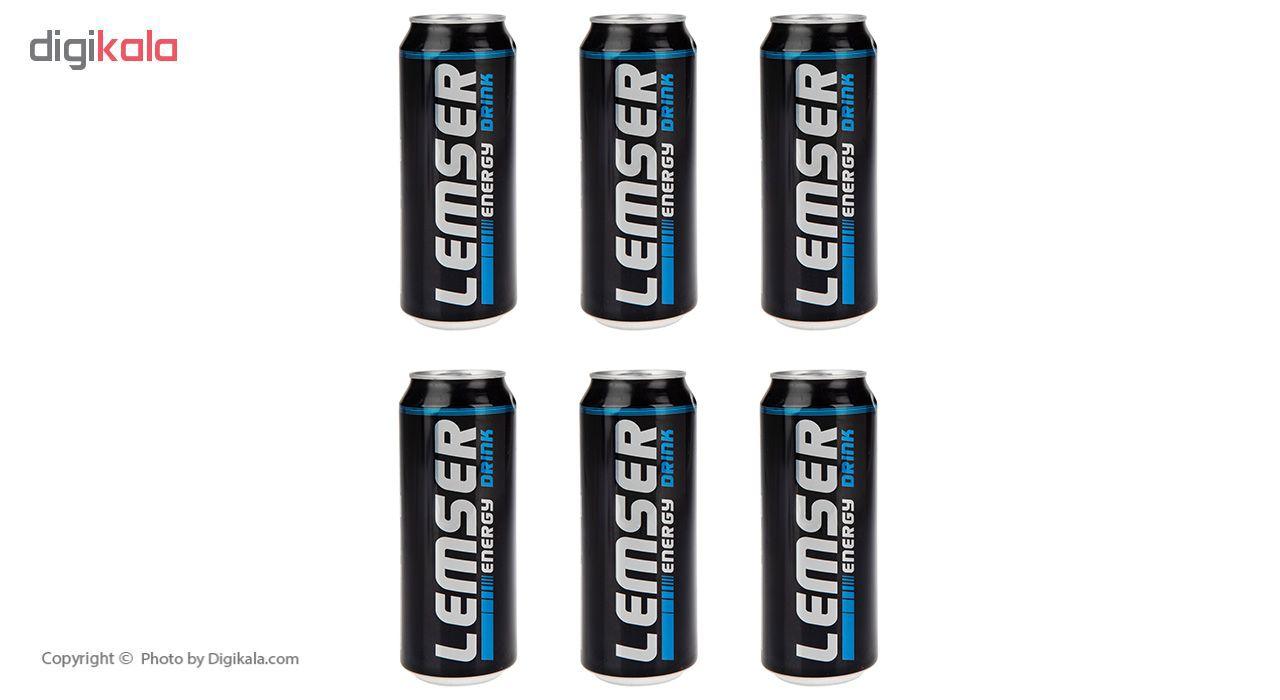 نوشیدنی انرژی زا لمسر حجم 500 میلی لیتر بسته 6 عددی main 1 1