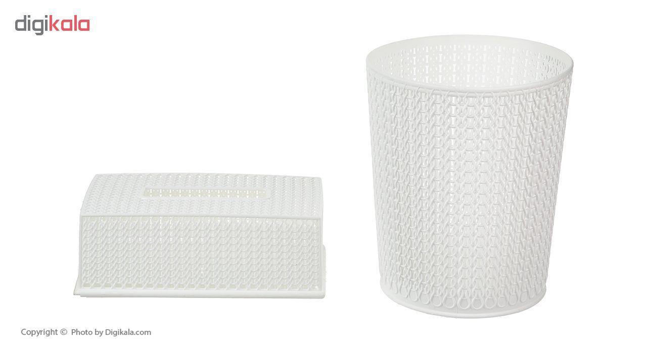 ست سطل و جا دستمال کاغذی مدل 003 main 1 3