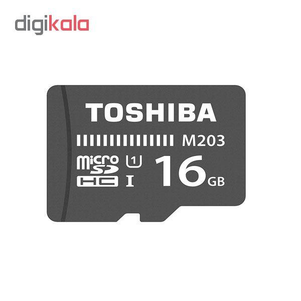 کارت حافظه microSDHC توشیبا مدل  ECONOMIC M203 کلاس 10 استاندارد UHS-I U1 سرعت 100MBps ظرفیت 16 گیگابایت