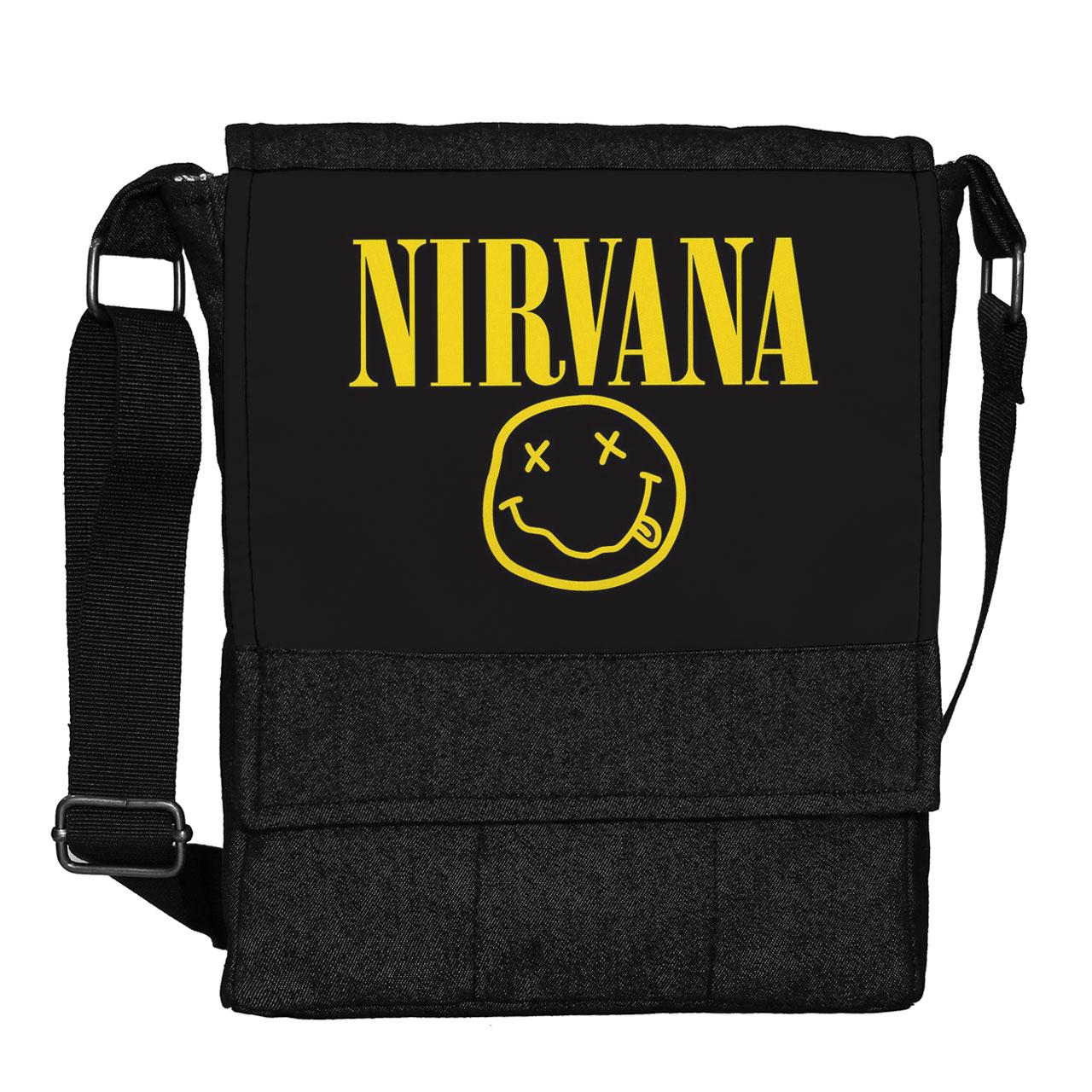 کیف دوشی گالری چی چاپ طرح nirvana کد 65870