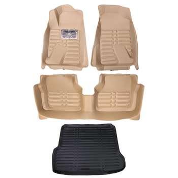 کفپوش سه بعدی خودرو  کد 47 مناسب برای سمند به همراه کفپوش صندوق