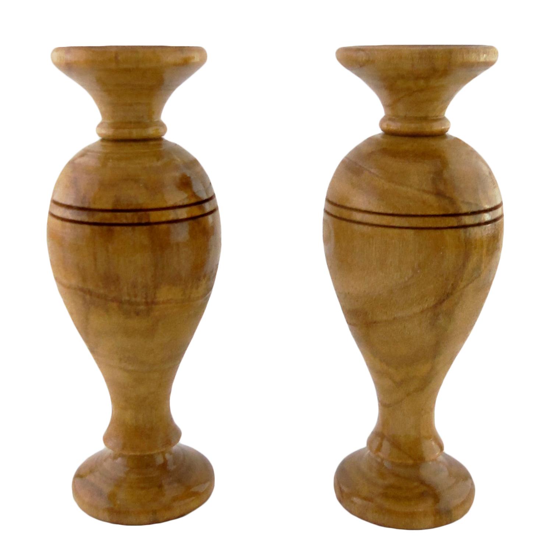 گلدان چوبی کد Am-Kh-G03 بسته دو عددی