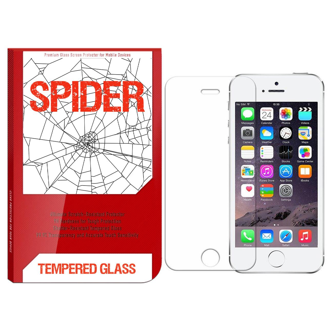 محافظ صفحه نمایش اسپایدر مدل S-TMP002 مناسب برای گوشی موبایل اپل Iphone 5/5s/se