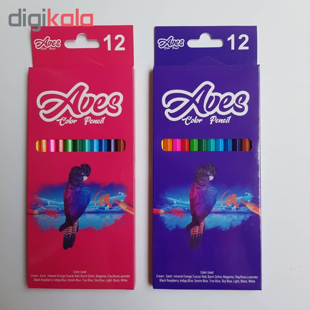 مداد رنگی 12 رنگ اویز مدل فانی فان مجموعه 4 عددی main 1 1
