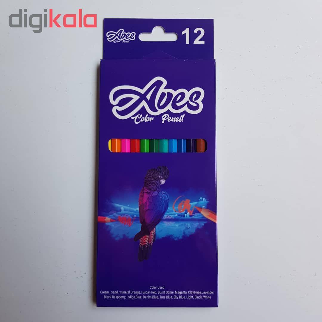 مداد رنگی 12 رنگ اویز مدل فانی فان مجموعه 4 عددی main 1 3