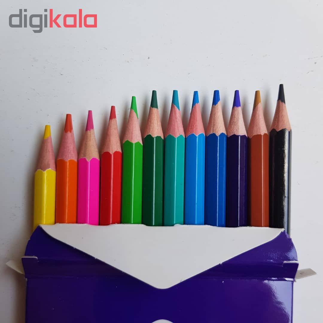 مداد رنگی 12 رنگ اویز مدل فانی فان مجموعه 4 عددی main 1 4
