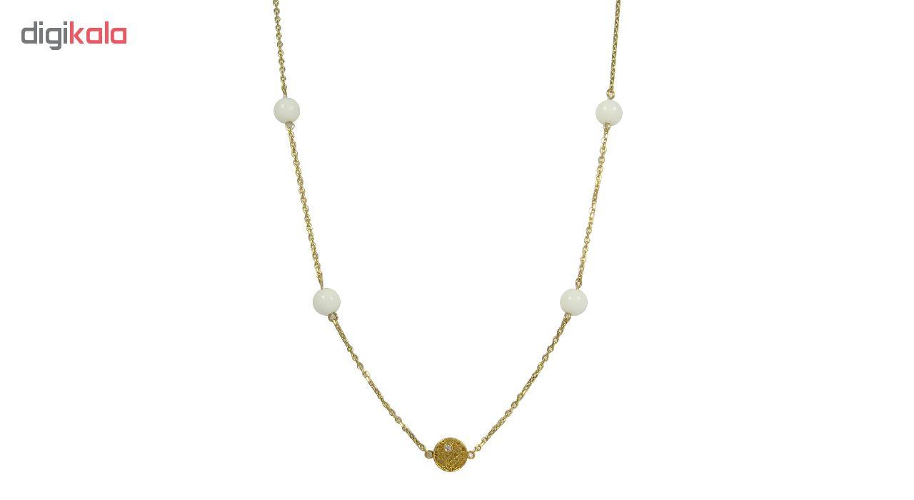 گردنبند طلا 18 عیار زنانه مانچو کد sfgs001