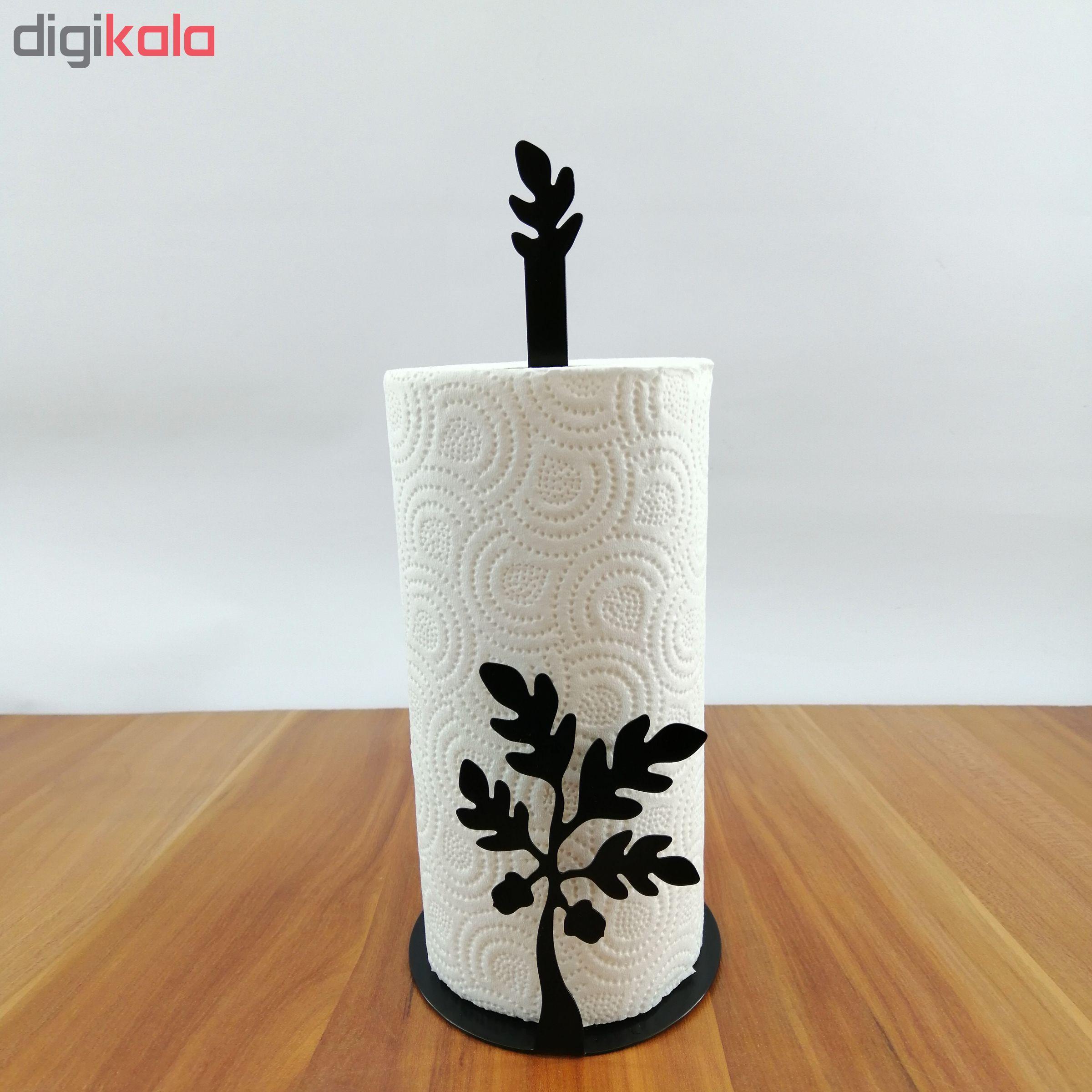 پایه رول دستمال کاغذی ملو طرح برگ بلوط 1 کد KMJ15