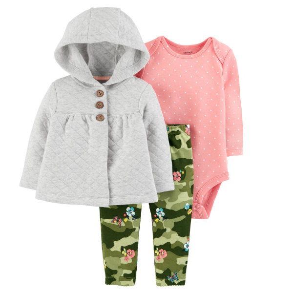 ست 3 تکه لباس نوزادی دخترانه کارترز کد 990