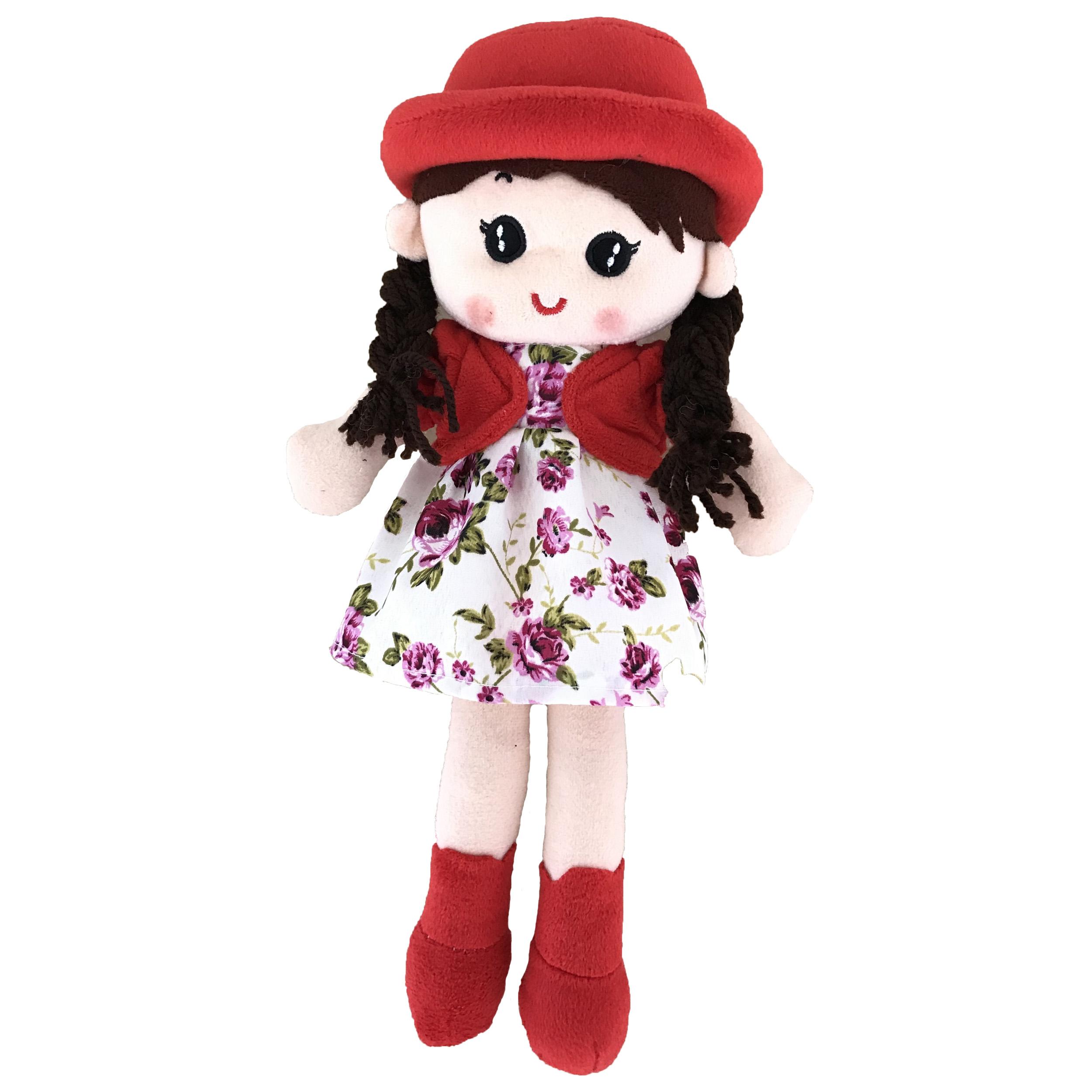 خرید                     عروسک طرح  دختر مو بلند ارتفاع 35 سانتی متر