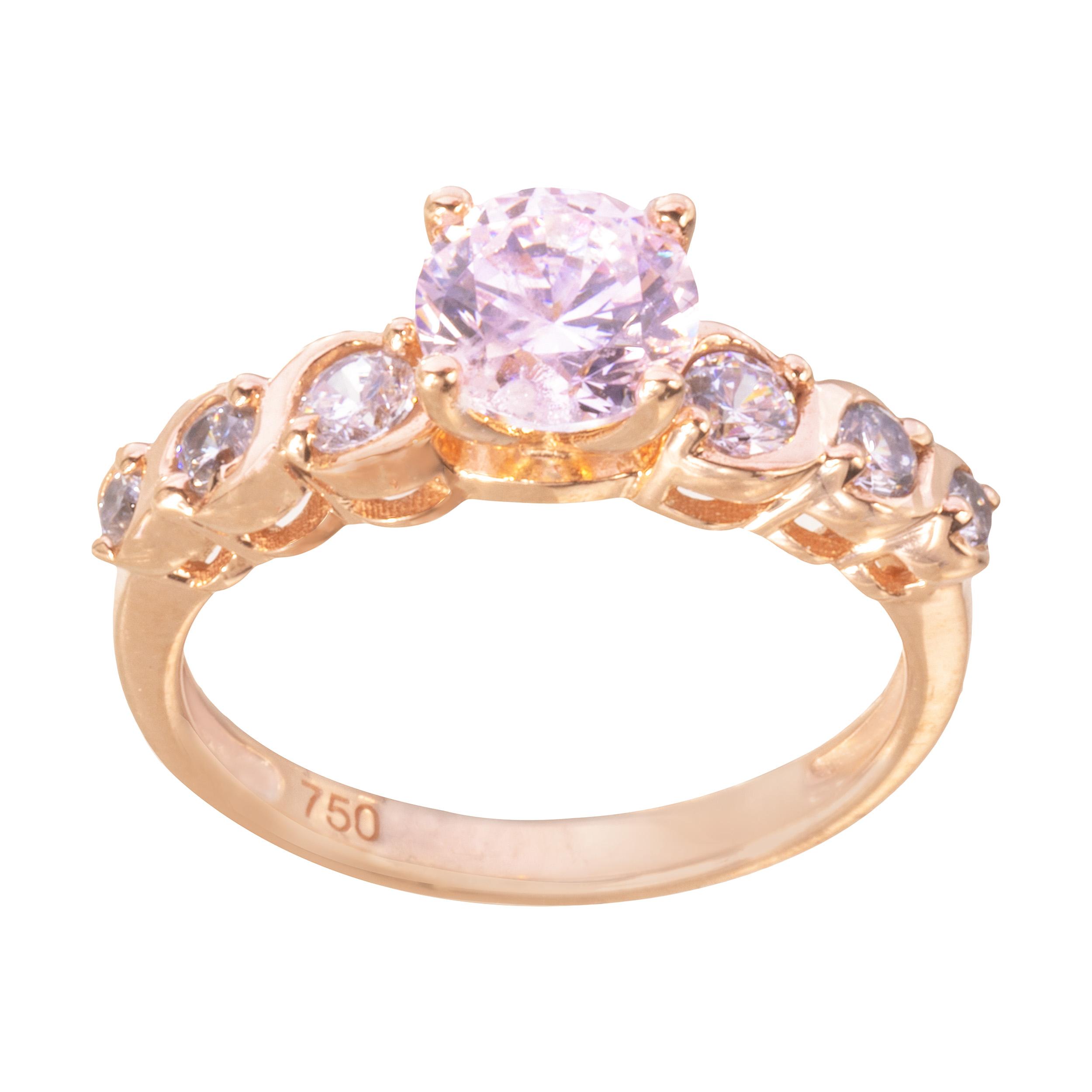 انگشتر طلا 18 عیار زنانه کد AN0181038