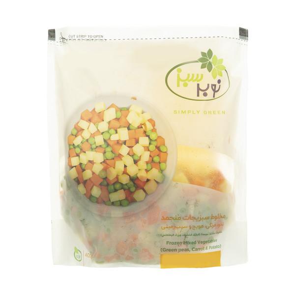 مخلوط سبزیجات منجمد نوبر سبز وزن 400 گرم
