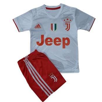 ست تی شرت و شلوارک ورزشی پسرانه طرح یوونتوس کد C H 07