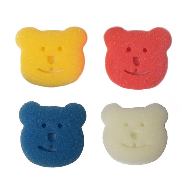 اسفنج حمام کودک ببکیوی طرح خرس مجموعه 4 عددی