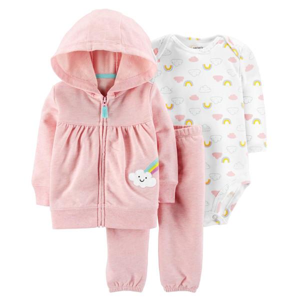 ست 3 تکه لباس نوزادی دخترانه کارترز کد 994
