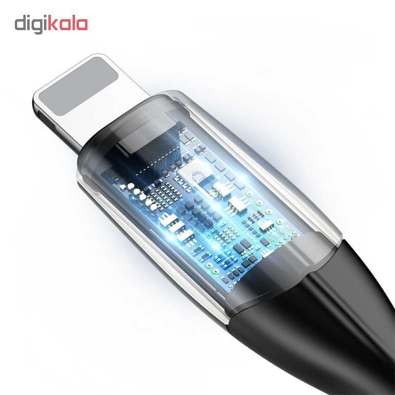 کابل تبدیل USB به لایتنینگ باسئوس مدل Horizontal طول 1 متر main 1 2