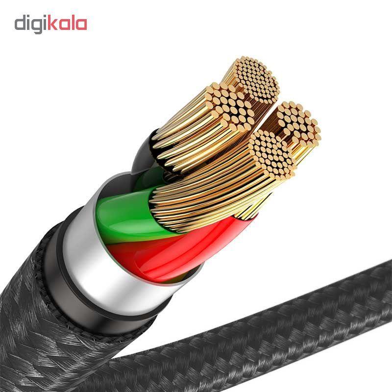 کابل تبدیل USB به لایتنینگ باسئوس مدل Horizontal طول 1 متر main 1 4