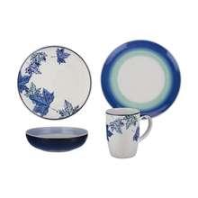 سرویس ظروف غذا خوری 16 پارچه سرامیکی مدل Blue Fall