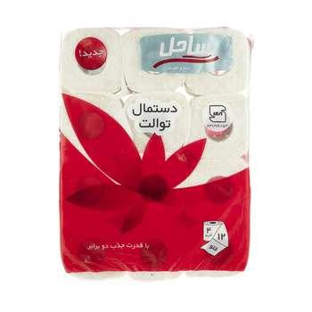 دستمال توالت  ساحل مدل Flower بسته 12 عددی