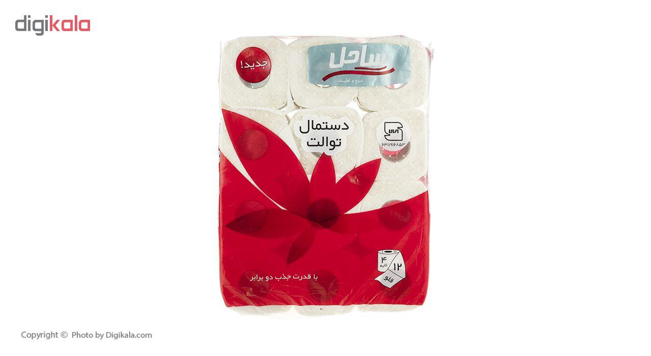 دستمال توالت  ساحل مدل Flower بسته 12 عددی main 1 1