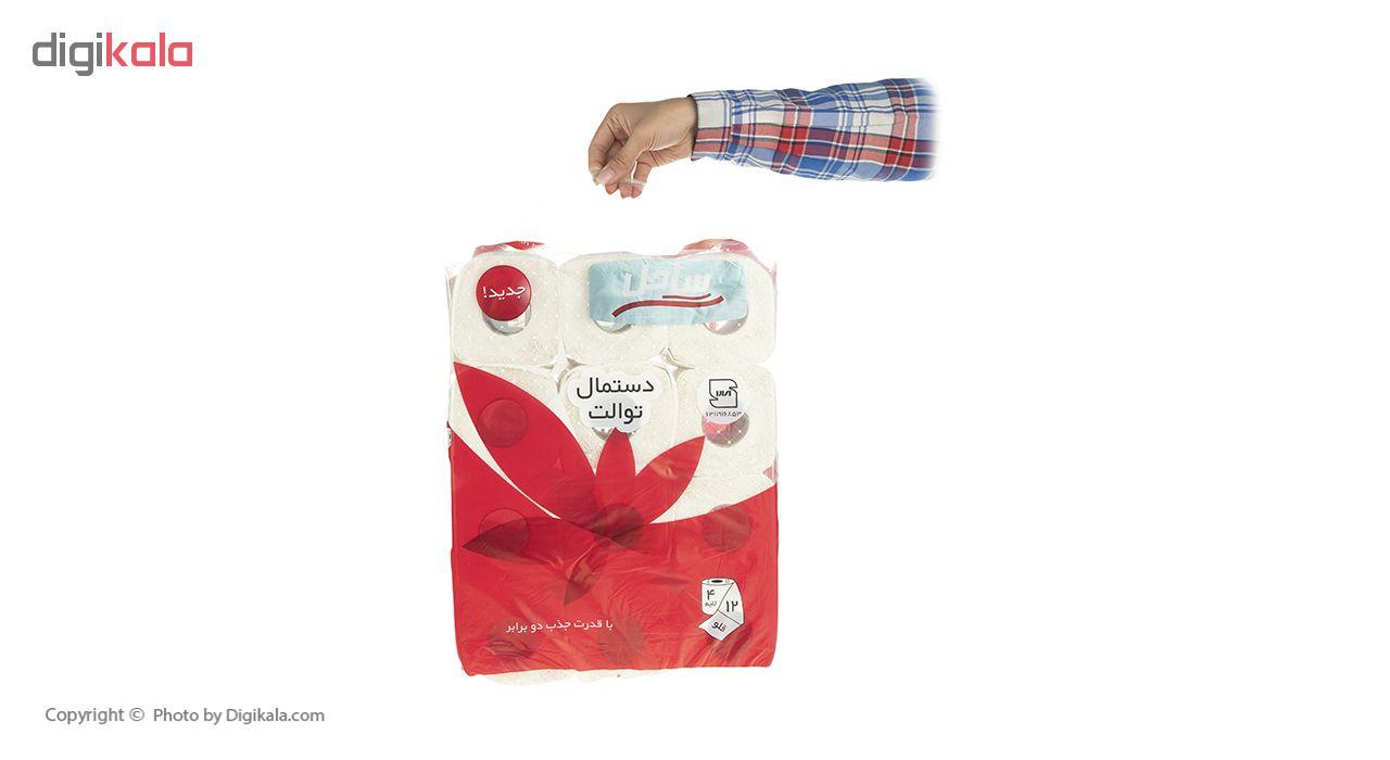 دستمال توالت  ساحل مدل Flower بسته 12 عددی main 1 3