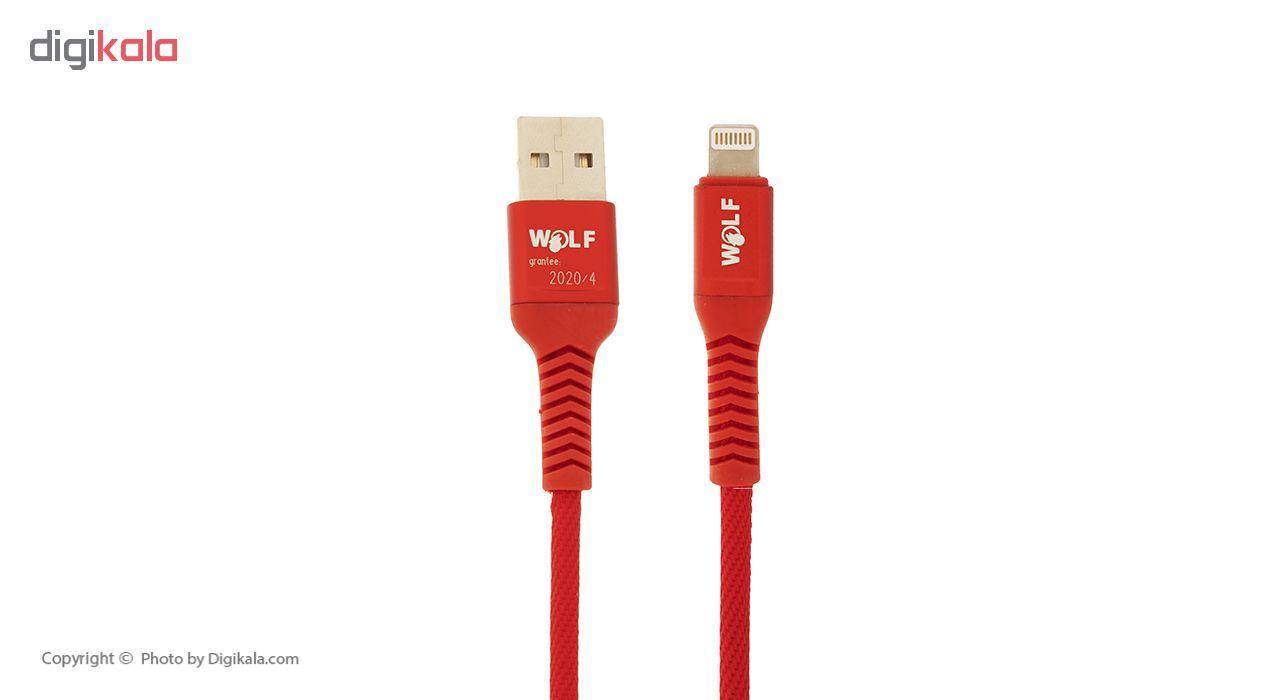 کابل تبدیل USB به لایتنینگ ولف مدل Ds2.4 طول 1 متر main 1 3