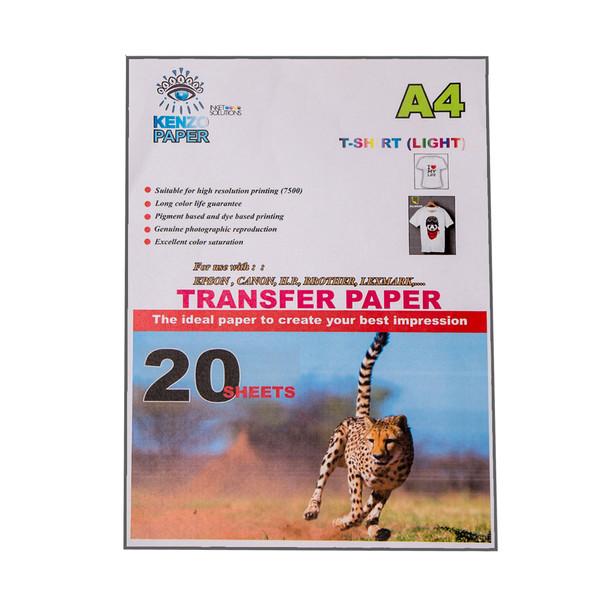 کاغذ سابلیمیشن روشن کنزو مدل K-TL20 سایز A4 بسته 20 عددی