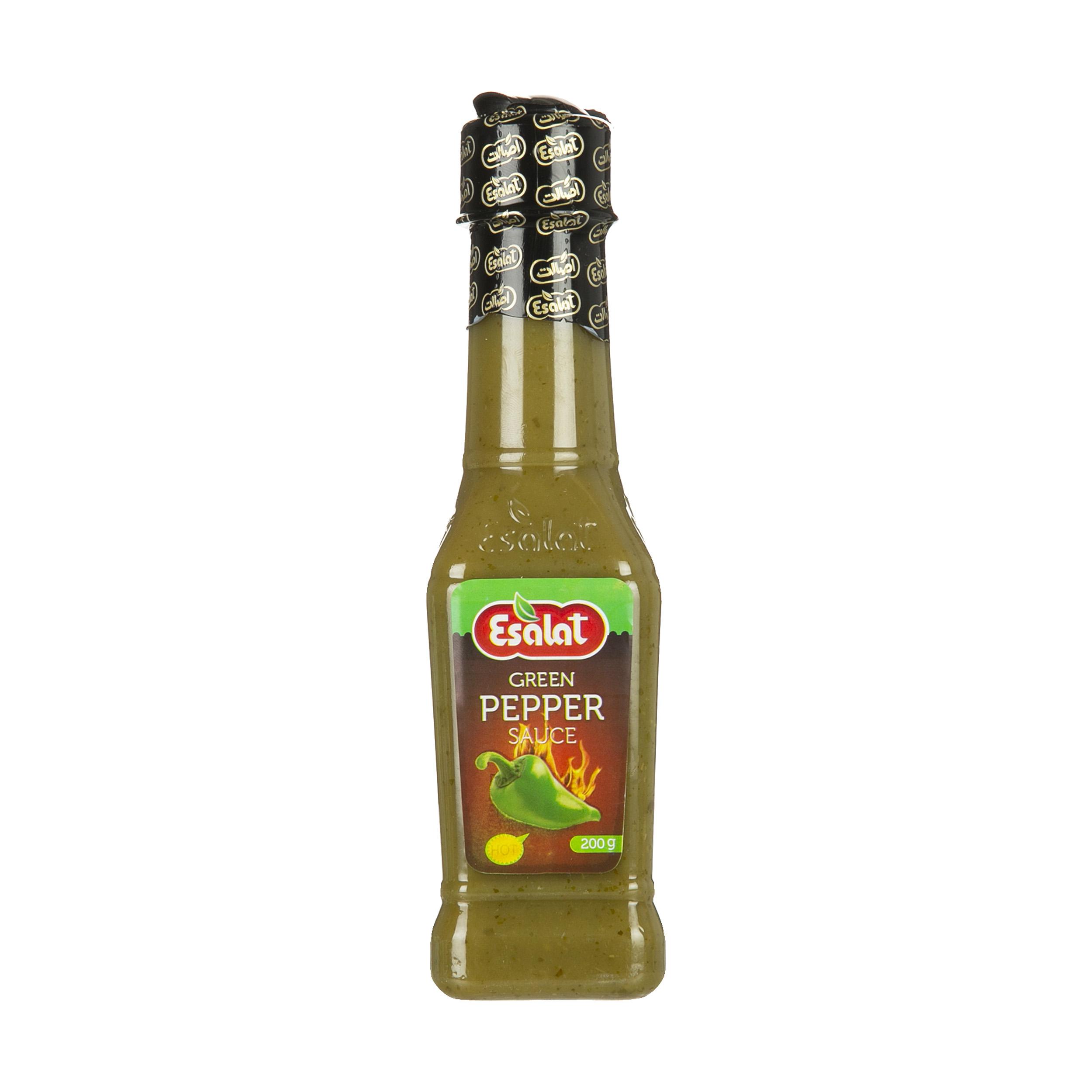 سس فلفل سبز تند اصالت مقدار 200 گرم