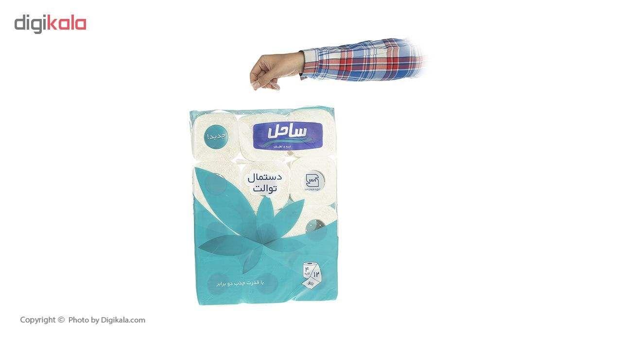 دستمال توالت  ساحل مدل Flower بسته 12 عددی main 1 5