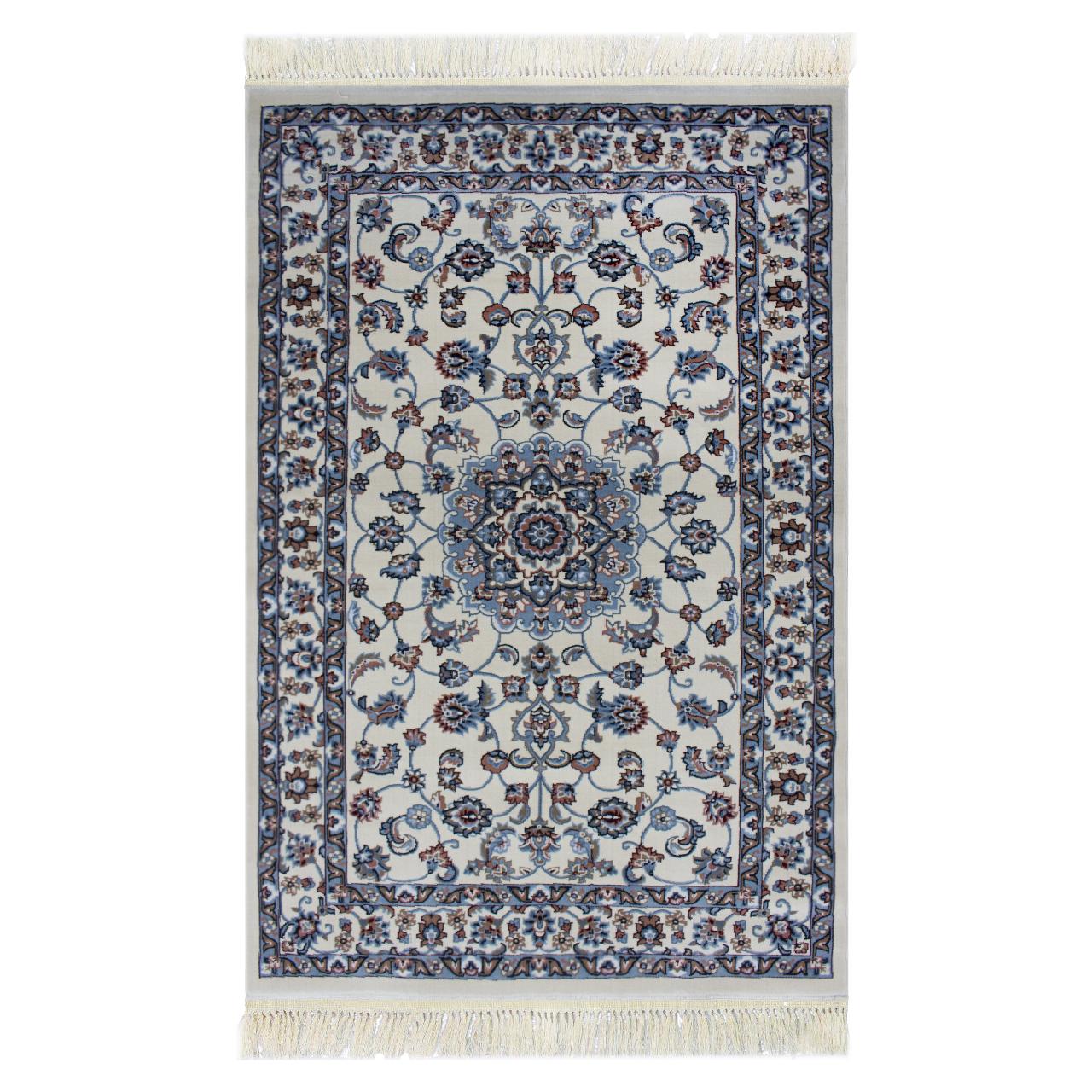 فرش ماشینی ساوین کد 2101 زمینه کرم
