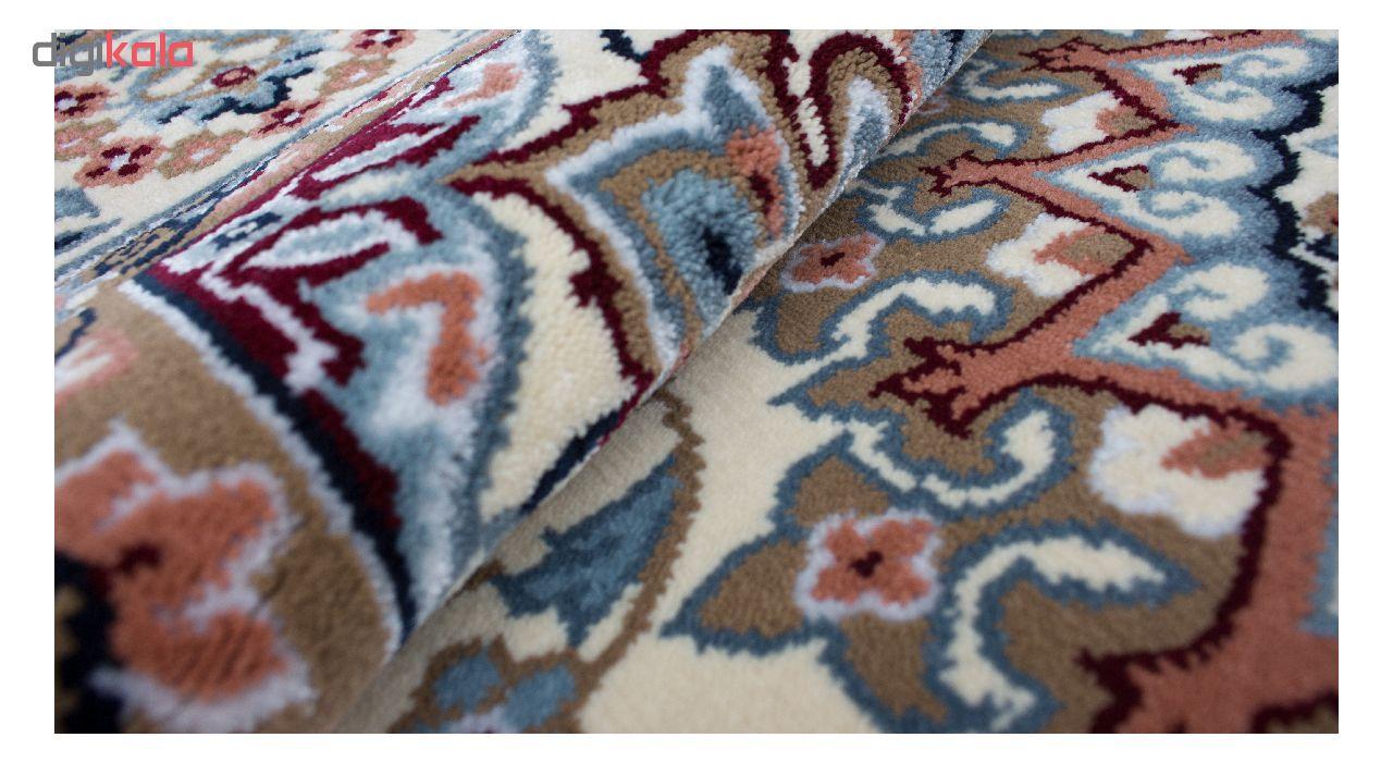 فرش ماشینی ساوین کد 2105 زمینه کرم main 1 3