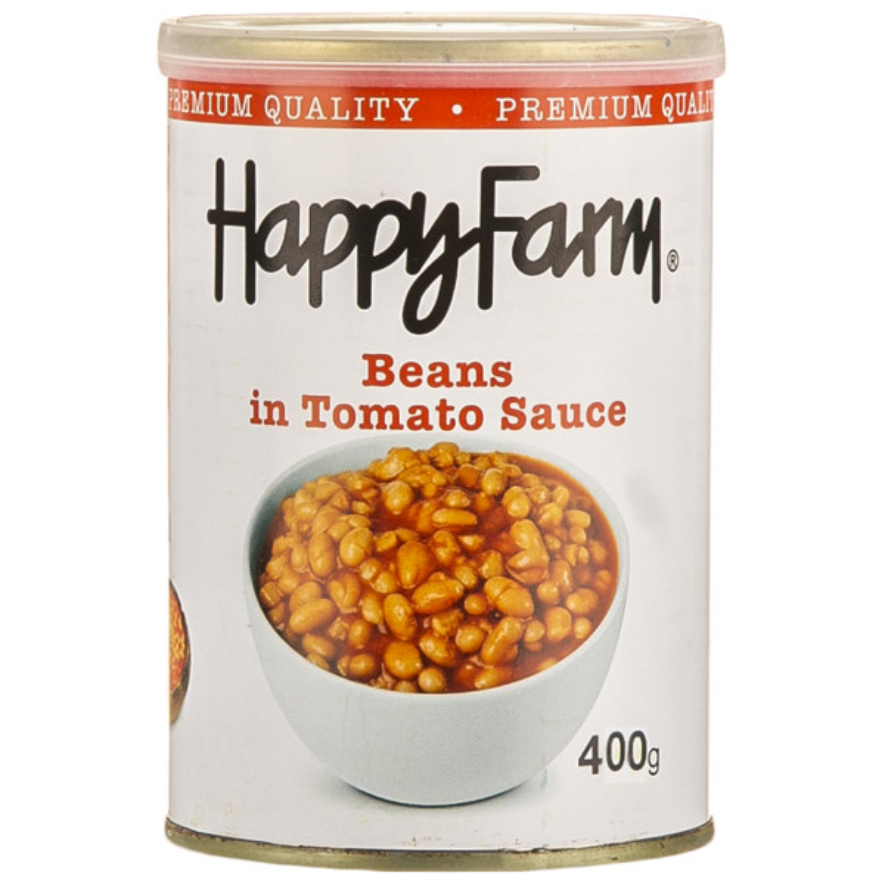 کنسرو لوبیا چیتی در سس گوجه فرنگی هپی فارم - 400 گرم