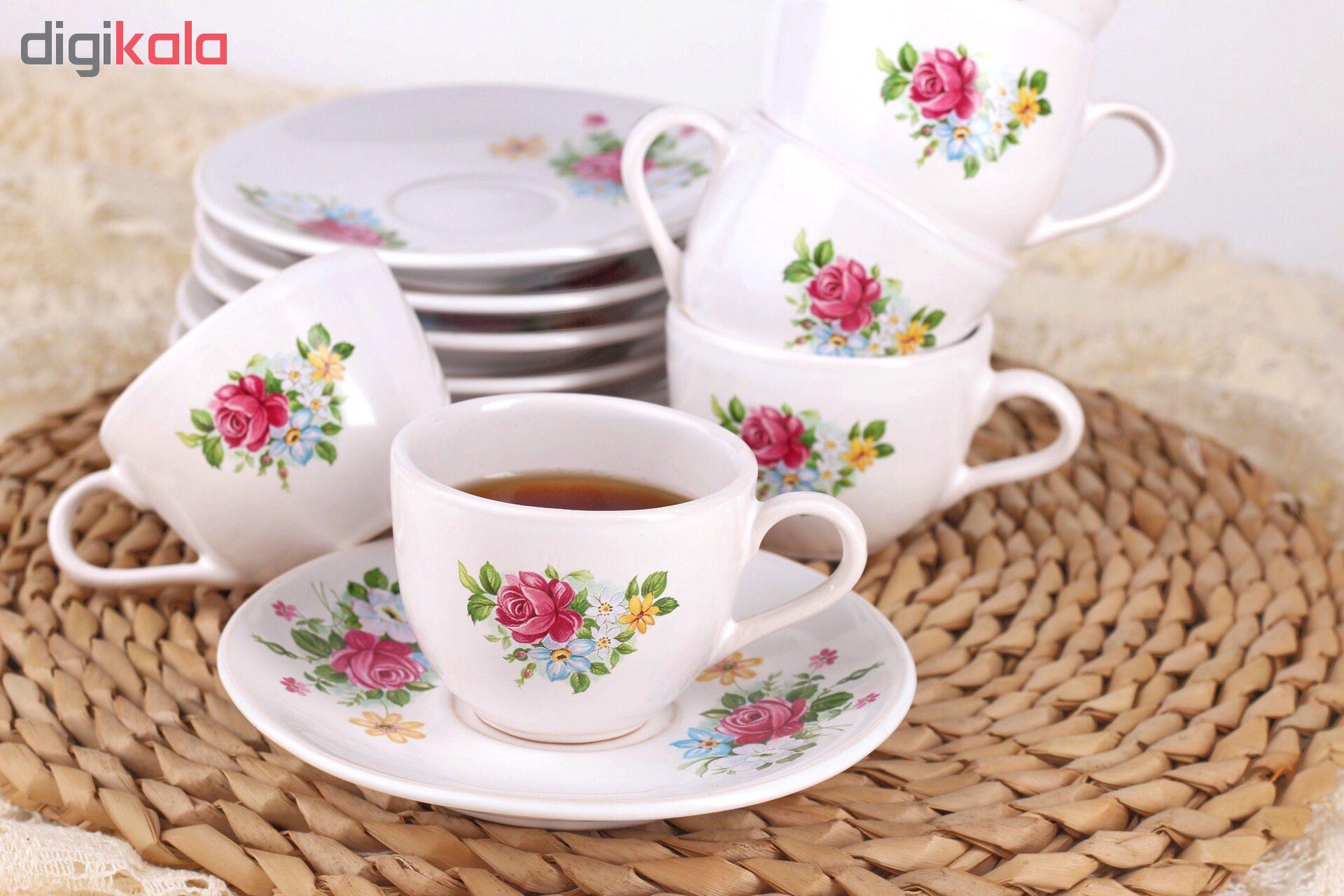 سرویس قهوه خوری 12 پارچه طرح رز کد EA15