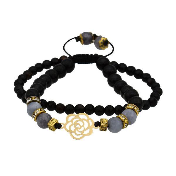دستبند طلا 18 عیار زنانه آرشا گالری طرح گل رز کد 306A2463