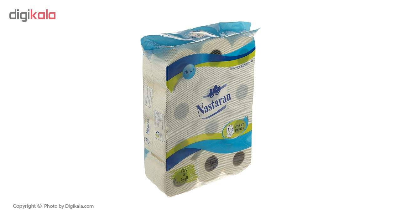 دستمال توالت نسترن مدل Blue بسته12 عددی main 1 2