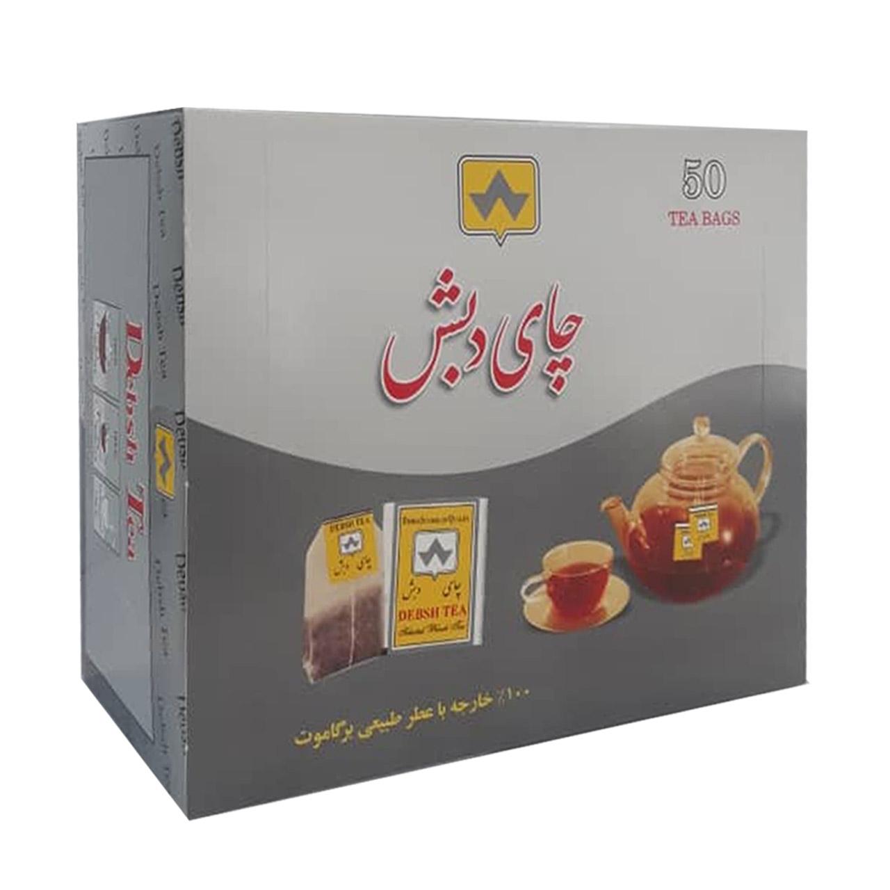 چای کیسه ای دبش برگاموت بسته 50 عددی