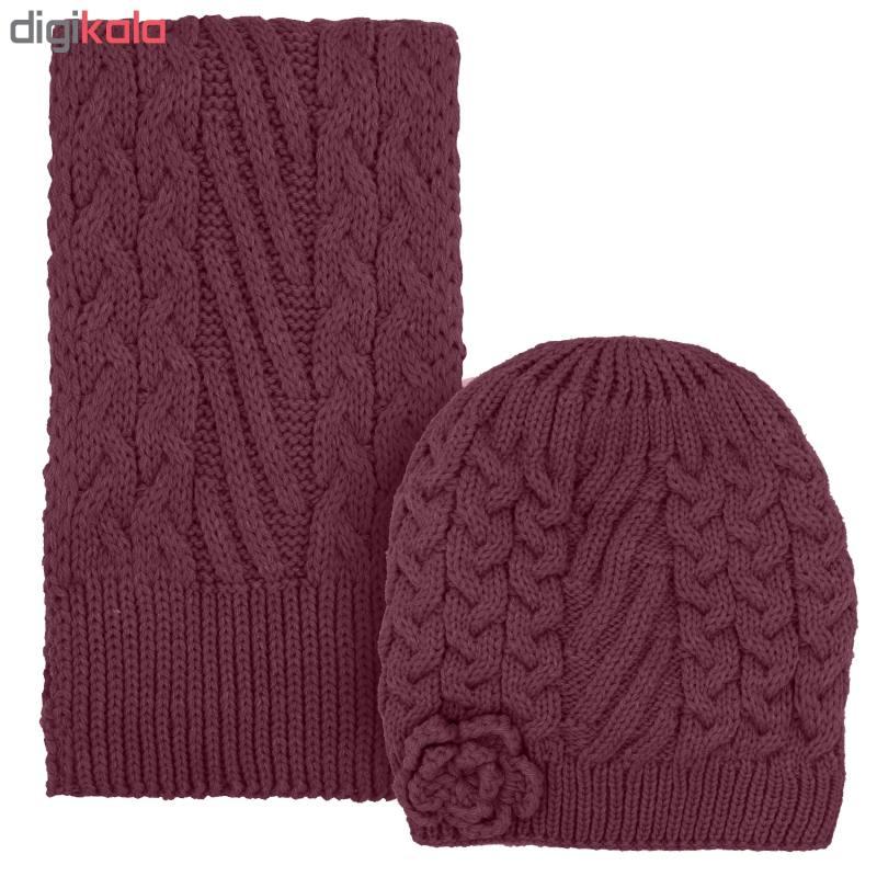 ست کلاه و شال گردن دخترانه کد D8130