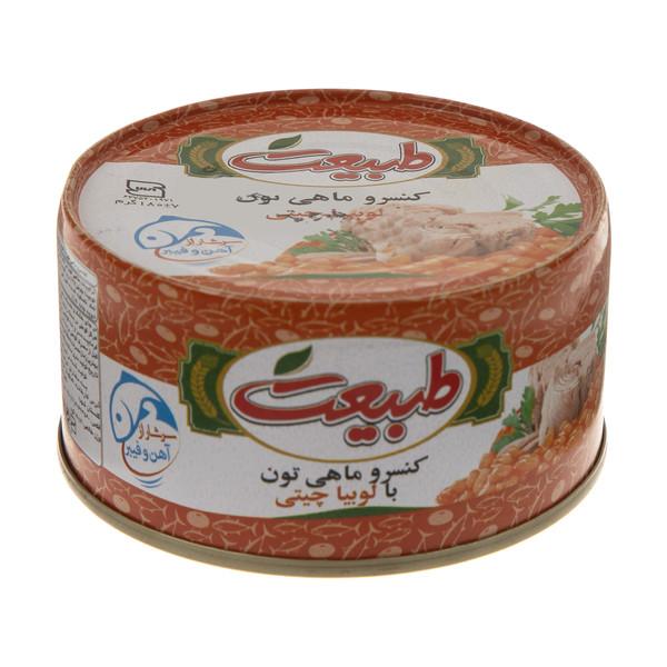 کنسرو ماهی تون با لوبیا چیتی طبیعت وزن 180 گرم