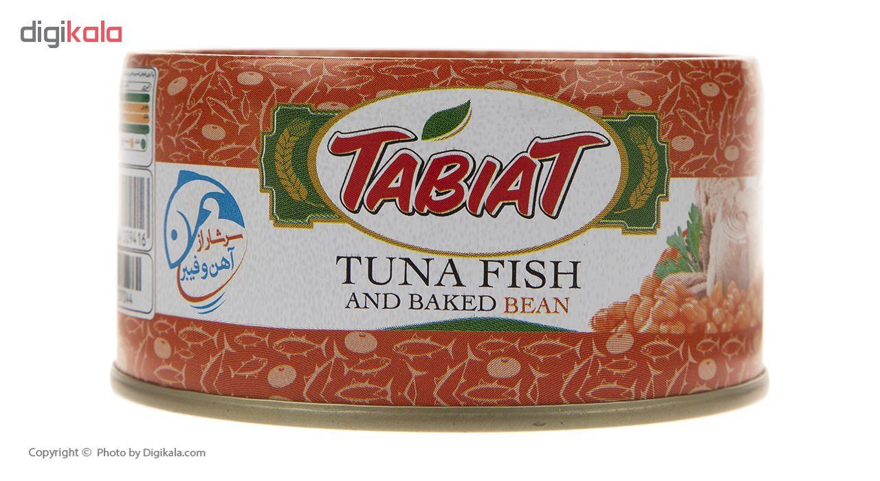 کنسرو ماهی تن با لوبیا چیتی طبیعت وزن 180 گرم