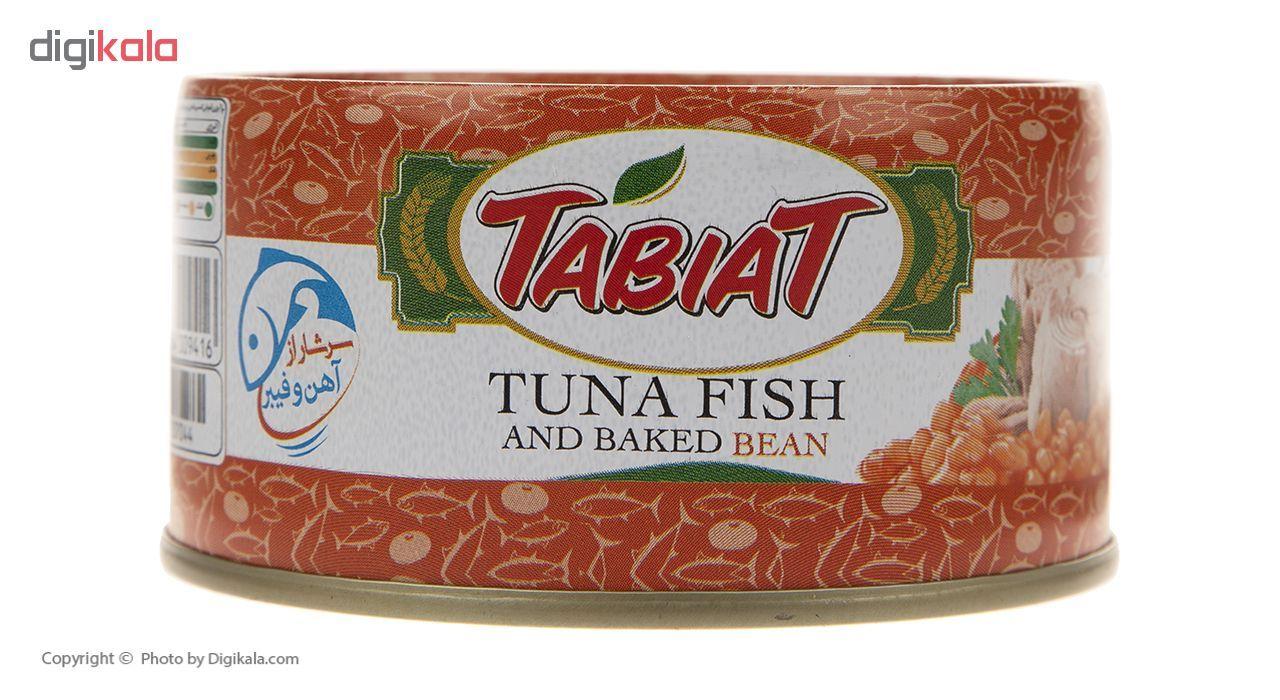 کنسرو ماهی تون با لوبیا چیتی طبیعت- 180 گرم main 1 2