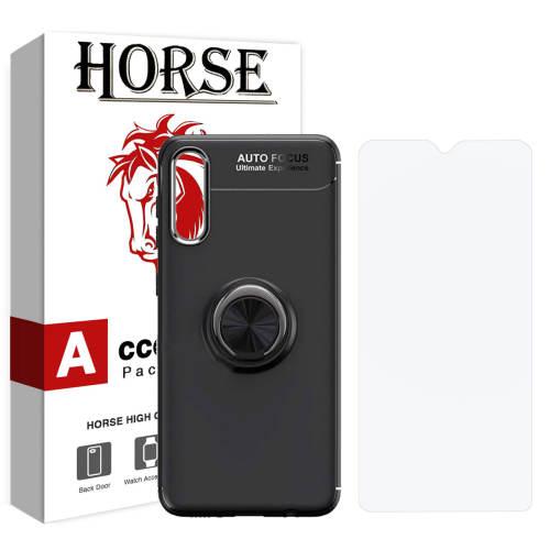 کاور هورس مدل CRH مناسب برای گوشی موبایل سامسونگ Galaxy A50 به همراه محافظ صفحه نمایش