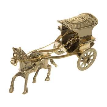 مجسمه دکوری طرح اسب و کالسکه