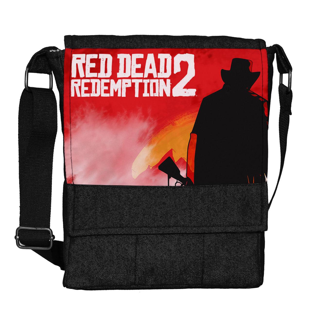 عکس کیف دوشی مردانه گالری چی چاپ طرح red dead redemption کد 65864