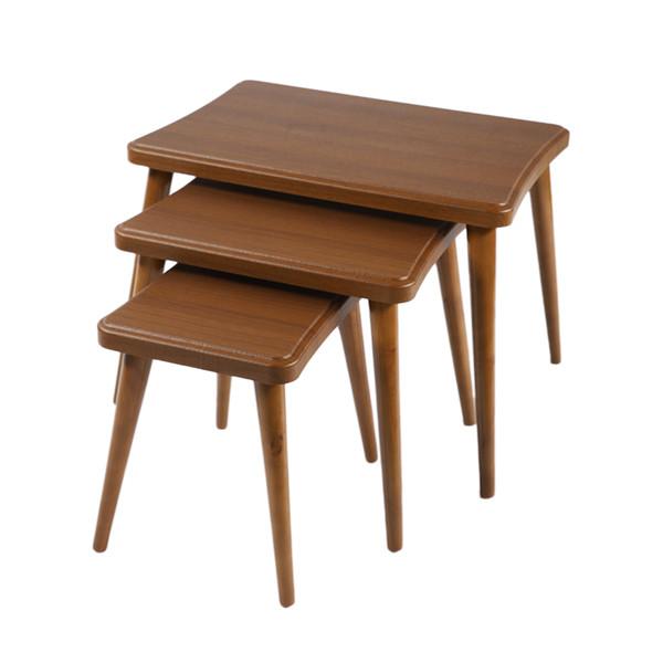 میز عسلی مدل 124GHB مجموعه 3 عددی
