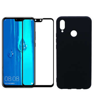 کاور مدل JEL-22 مناسب برای گوشی موبایل هوآوی Y9 2019 به همراه محافظ صفحه نمایش گوف مدل TI-001