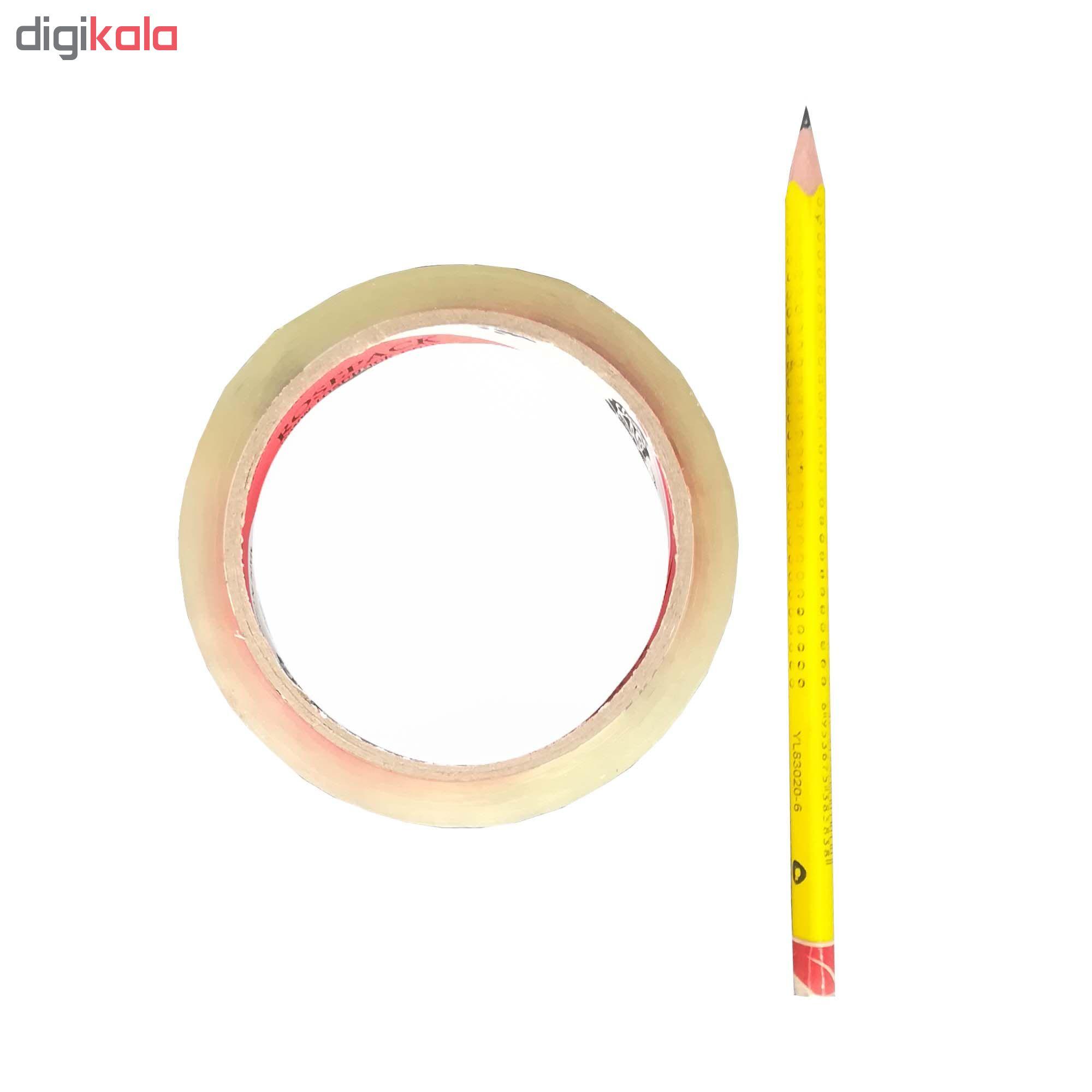 چسب نواری رزپک مدل کریستال عرض 2 سانتی متر بسته 6 عددی